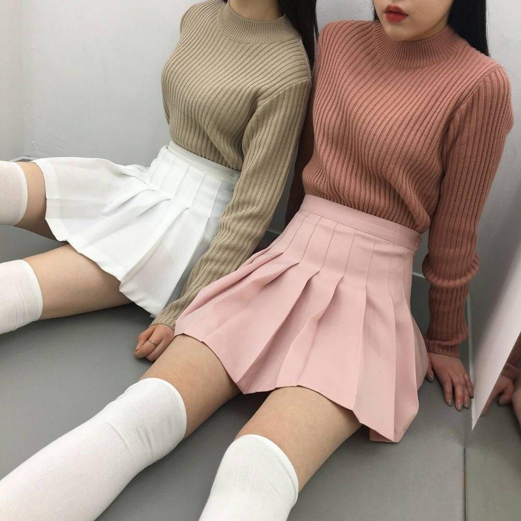 ไอเดียการแต่งตัว แฟชั่นกระโปรงเทนนิส ใส่กับอะไรดี ให้สวยน่ารักแบบสาวเกาหลี แฟชั่นใหม่ การแต่งตัว ความงาม สไตล์การแต่งหน้า Lifestyle แฟชั่นกระโปรงเทนนิส